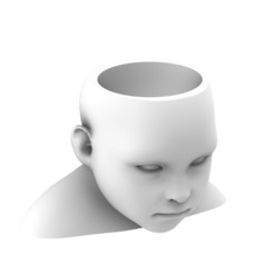 3D print files Baby Head Planter, CarlaBonilla