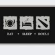 Download free STL file Dota 2 * Eat * Sleep * Repeat Again • 3D print model, DanielDGuevara