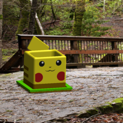 6.PNG Download STL file Pokemon Pikachu Planter Multicolor • 3D printer design, DanielDGuevara