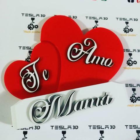 3D printer models I love you, Mom., DanielDGuevara