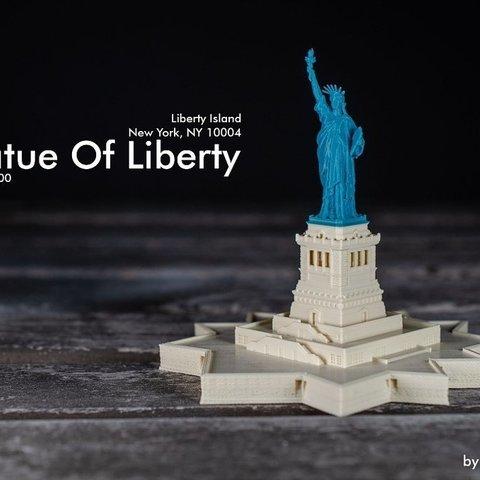 Download free 3D print files Statue Of Liberty / 1:1000 / 1:700, vandragon_de