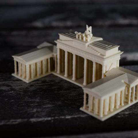 Free 3D printer files Brandenburg Gate - Berlin, vandragon_de