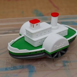 Free 3D print files Paddli - a simple bathtub boat, vandragon_de