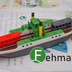 Download free 3D printing designs Fehmarn - a north german island ferry, vandragon_de