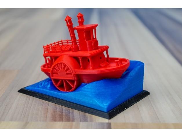 af94946f379445376208fc86de0fa4f1_preview_featured.jpg Télécharger fichier STL gratuit Ancien bateau à vapeur à roue à aubes avec présentoir (banc visuel) • Design pour imprimante 3D, vandragon_de