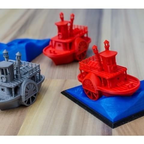 bc0a38bdd29a3fcb4edbf963afda4a12_preview_featured.jpg Télécharger fichier STL gratuit Ancien bateau à vapeur à roue à aubes avec présentoir (banc visuel) • Design pour imprimante 3D, vandragon_de