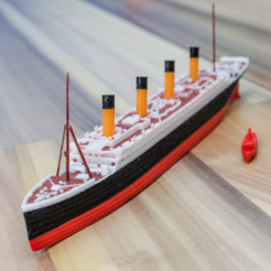 Free 3d printer files RMS TITANIC - scale 1/1000, vandragon_de