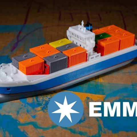 233d32ad129990d4c583c6db55ea5e17_display_large.jpg Download free STL file EMMA - a Maersk Ship • 3D printable template, vandragon_de