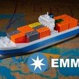 Free STL file EMMA - a Maersk Ship, vandragon_de
