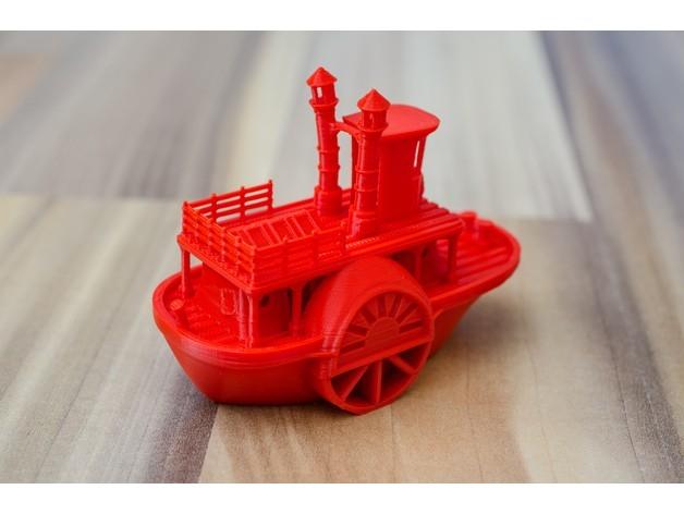 f6c8bec986755796c682cc29aa3de45e_preview_featured.jpg Télécharger fichier STL gratuit Ancien bateau à vapeur à roue à aubes avec présentoir (banc visuel) • Design pour imprimante 3D, vandragon_de