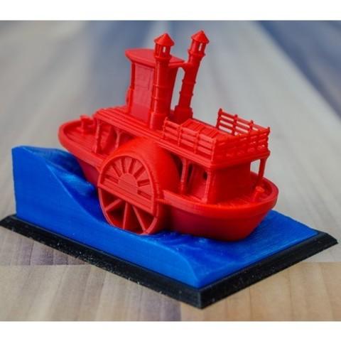 0eb99761f5fd9deda91ae3ca8bf6954c_preview_featured.jpg Télécharger fichier STL gratuit Ancien bateau à vapeur à roue à aubes avec présentoir (banc visuel) • Design pour imprimante 3D, vandragon_de