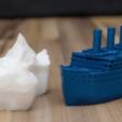 Impresiones 3D gratis Pequeño ejemplo comprimido de Titanic y escala del iceberg, vandragon_de