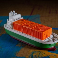 Free 3D printer model COS -  the Container Ship, vandragon_de