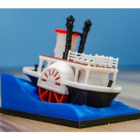 ff1d2863bfeca76729be52ea0bab283d_preview_featured.jpg Télécharger fichier STL gratuit Ancien bateau à vapeur à roue à aubes avec présentoir (banc visuel) • Design pour imprimante 3D, vandragon_de