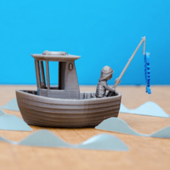 Free STL LEO the little fishing boat (visual benchy), vandragon_de