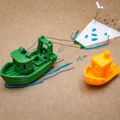 Free stl files FIN the little Trawler (visual benchy), vandragon_de