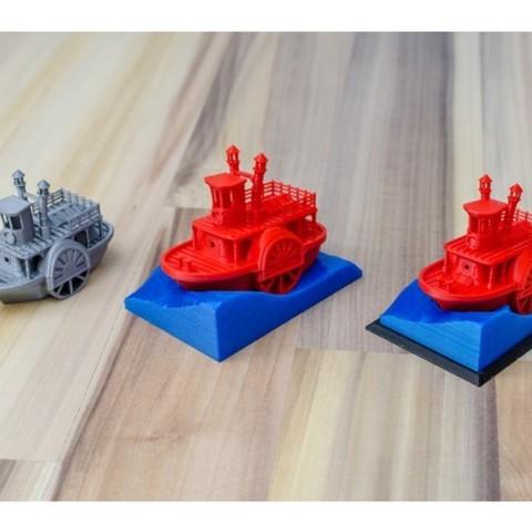 da4e69eaf187dfe169155659d984e736_preview_featured.jpg Télécharger fichier STL gratuit Ancien bateau à vapeur à roue à aubes avec présentoir (banc visuel) • Design pour imprimante 3D, vandragon_de