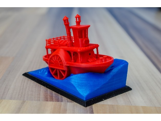 2531e6003d27a17bfddcf0739e093f44_preview_featured.jpg Télécharger fichier STL gratuit Ancien bateau à vapeur à roue à aubes avec présentoir (banc visuel) • Design pour imprimante 3D, vandragon_de
