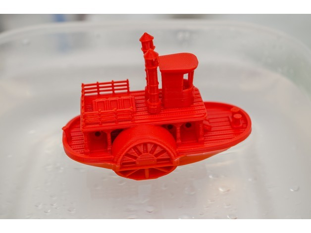 5e885f4651d7c7a07d5ef04c0d0867d2_preview_featured.jpg Télécharger fichier STL gratuit Ancien bateau à vapeur à roue à aubes avec présentoir (banc visuel) • Design pour imprimante 3D, vandragon_de