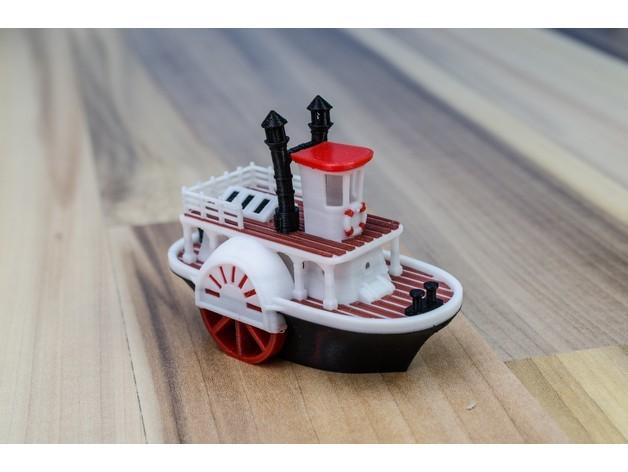 f55e0a05141c5e9c1757c4fa448b1093_preview_featured.jpg Télécharger fichier STL gratuit Ancien bateau à vapeur à roue à aubes avec présentoir (banc visuel) • Design pour imprimante 3D, vandragon_de