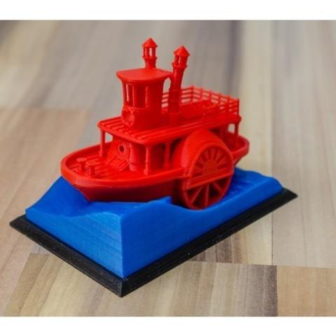 a917a59493640706813d58951cc10044_preview_featured.jpg Télécharger fichier STL gratuit Ancien bateau à vapeur à roue à aubes avec présentoir (banc visuel) • Design pour imprimante 3D, vandragon_de