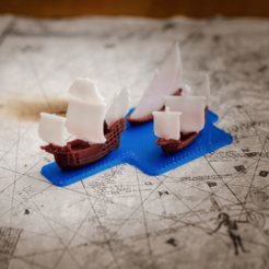 Free 3d model The ships of christopher columbus - scale 1/1000, vandragon_de