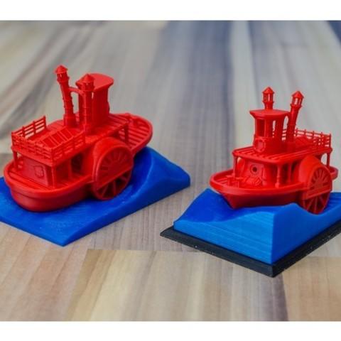 df7d171c5e15b9c674ab947a726fcc6c_preview_featured.jpg Télécharger fichier STL gratuit Ancien bateau à vapeur à roue à aubes avec présentoir (banc visuel) • Design pour imprimante 3D, vandragon_de
