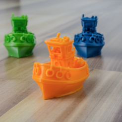 Free Little bathtub tug boat (visual benchy) 3D model, vandragon_de