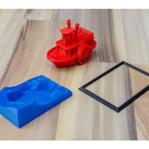 42c2a1f2e071ade45a240ed1cc54dfc5_preview_featured.jpg Télécharger fichier STL gratuit Ancien bateau à vapeur à roue à aubes avec présentoir (banc visuel) • Design pour imprimante 3D, vandragon_de