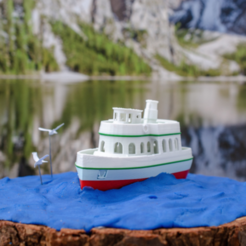 Download free 3D printer designs HARB - the small excursion or harbour steamer, vandragon_de