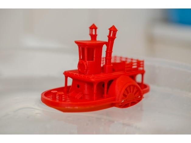 6be593469e4cede8ca483d9411b45787_preview_featured.jpg Télécharger fichier STL gratuit Ancien bateau à vapeur à roue à aubes avec présentoir (banc visuel) • Design pour imprimante 3D, vandragon_de