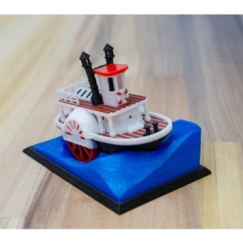 13c73ff44a72bf3b93bc144a1bdcce72_preview_featured.jpg Télécharger fichier STL gratuit Ancien bateau à vapeur à roue à aubes avec présentoir (banc visuel) • Design pour imprimante 3D, vandragon_de
