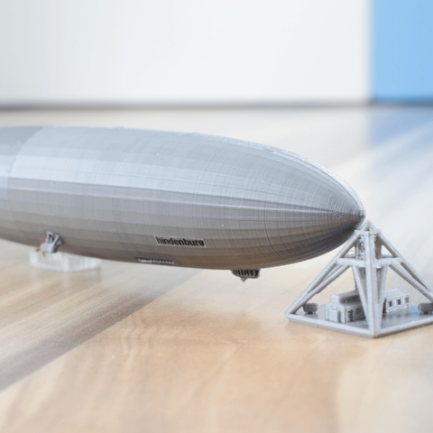 Free stl files LZ-129 Hindenburg - scale 1/1000, vandragon_de