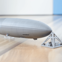 Free stl files LZ-129 Hindenburg - scale 1/1000, vandragon_de