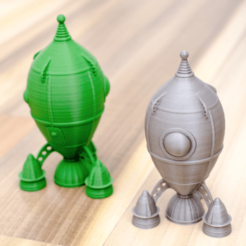 Free 3d printer model An old retro rocket, vandragon_de