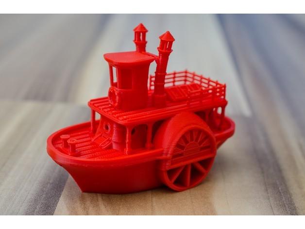 cee2370d4da66b67588334c2b9f38b19_preview_featured.jpg Télécharger fichier STL gratuit Ancien bateau à vapeur à roue à aubes avec présentoir (banc visuel) • Design pour imprimante 3D, vandragon_de