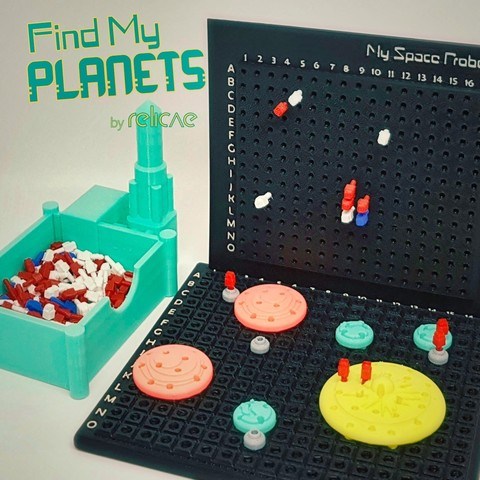 Find_My_Planets_8aaa_OK.jpg Download free STL file Find My Planets - Guessing Game (Battleship style) • 3D printer object, Relicae