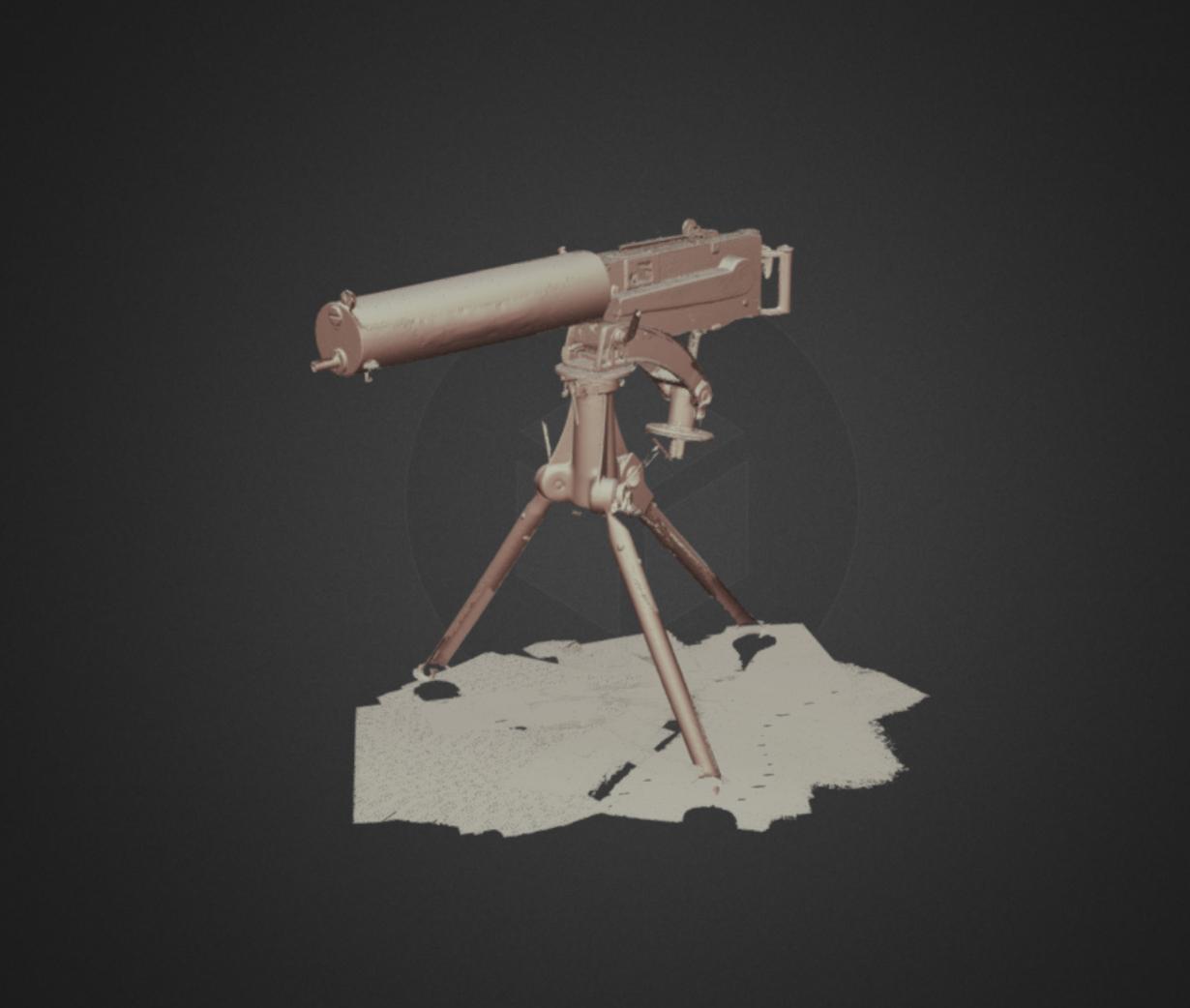 Capture d'écran 2017-12-14 à 15.06.07.png Download free STL file Vickers MK 1 heavy machine gun, ca. 1900 • 3D printer object, AucklandMuseum