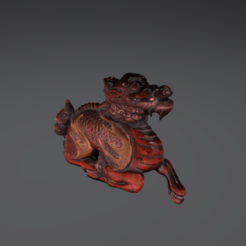 Free Dragon Netsuke 3D printer file, AucklandMuseum