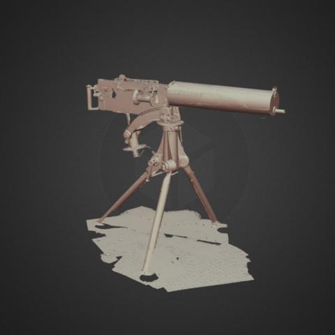 Capture d'écran 2017-12-14 à 15.06.12.png Download free STL file Vickers MK 1 heavy machine gun, ca. 1900 • 3D printer object, AucklandMuseum