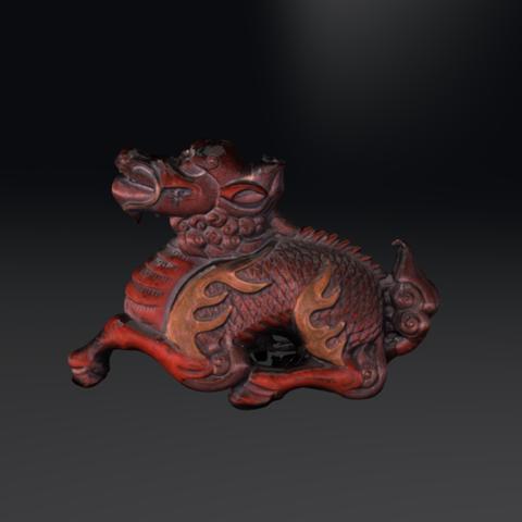 Capture d'écran 2017-12-14 à 15.03.34.png Download free OBJ file Dragon Netsuke • 3D print template, AucklandMuseum