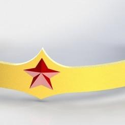 ww10.JPG Download 3MF file Justice League Wonder Woman Tiara  • 3D printer object, 3DDweller