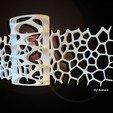 light voronoi 1.jpg Download free STL file light voronoi triptych • 3D printing design, juanpix