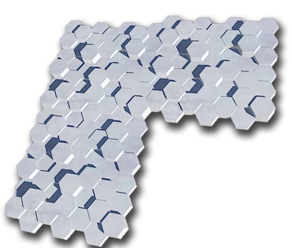 plaque octo x3.jpg Download free STL file exagonal decorative wall plate • 3D printer template, juanpix