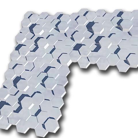 plaque octo x3.jpg Télécharger fichier STL gratuit plaque murale décorative exagonale • Objet à imprimer en 3D, juanpix