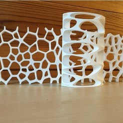 Free stl files light voronoi triptych, juanpix