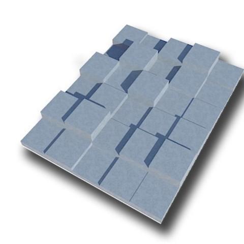 plaquecubee.jpg Download free STL file decorative wall plate • 3D printing template, juanpix