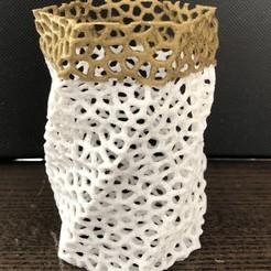 Download free 3D printer files vronoi pot, juanpix