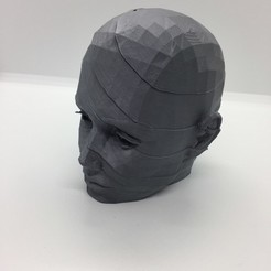 3D printer files head low poly poly, juanpix