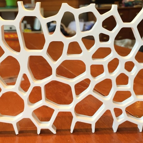 voronoi plaque.jpg Download free STL file light voronoi triptych • 3D printing design, juanpix